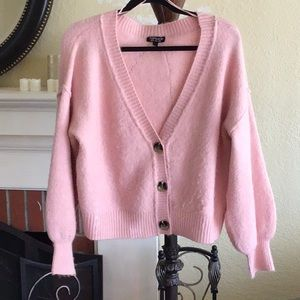 TopShop Pink Fuzzy Sweater